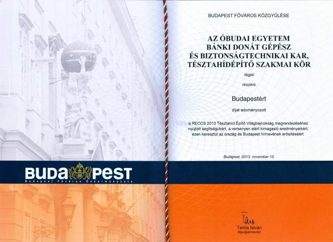 Budapestért díj