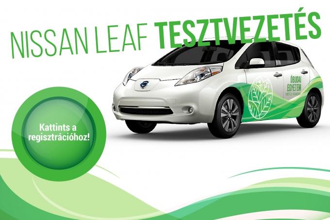Nissan Leaf tesztvezetés