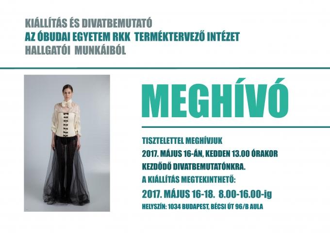 Ipari termék- és formatervező mérnökhallgatók kiállítása és divatbemutatója