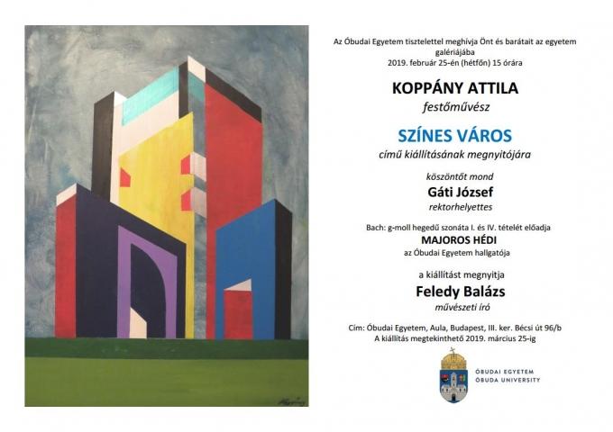 Színes Város Kiállítás megnyitó