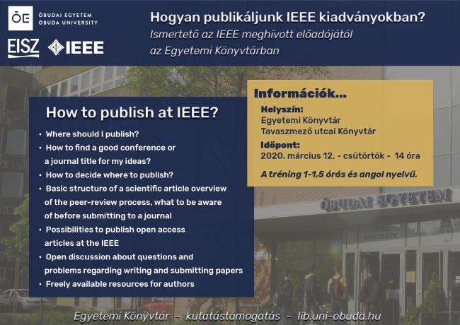 IEEE publikációs workshop - How to publish at IEEE?