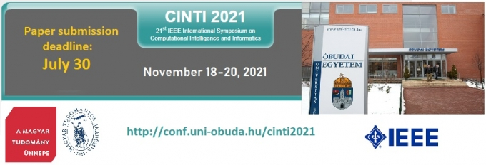 IEEE 21st International Symposium on Computational Intelligence and Informatics (CINTI 2021)