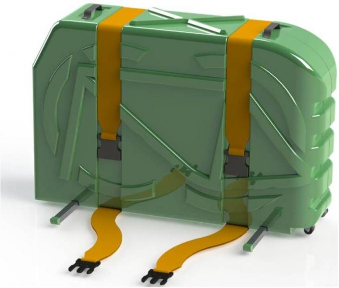 Kerékpárszállító bőrönd