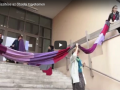 Óriás sál készítése az Óbudai Egyetemen