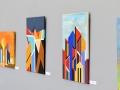 Színes Város - Koppány Attila festőművész kiállítása az Óbudai Egyetemen