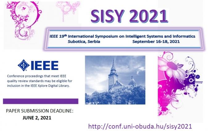 IEEE 19th International Symposium on Intelligent Systems and Informatics (SISY 2021)